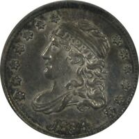 1834 CAPPED BUST HALF DIME H10C NGC AU58 NICE LUSTER AND TON