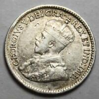 CANADA 1918 SILVER 5 CENTS OLD DATE KGV  39G