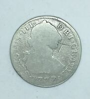 1777 BOLIVIA 2 REALES SILVER COIN   AS IS