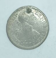 BOLIVIA SPANISH 2 REALES 1773 SILVER POLISHED COIN
