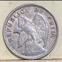 1908 S CHILE 10 C. XF SILVER XMAS PARTIAL SHIPPING REFUND
