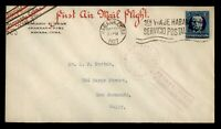 DR WHO 1927 SPANISH ANTILLES FIRST FLIGHT TO KEY WEST FL FAM