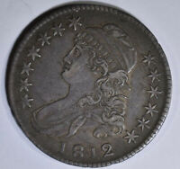 1812 CAPPED BUST HALF DOLLAR XF/AU NO RESERVE $$ VERY NICE C