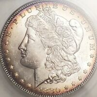 1880O ICG MINT STATE 64 SUNSET BROWN TONING VAM-6A  TOP 100 MORGAN. 1900.00 VALUE