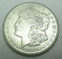1921 S MORGAN SILVER DOLLAR   AU - ABOUT UNCIRCULATED