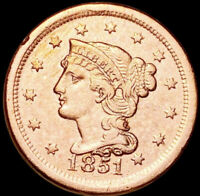 1851 BRAIDED HAIR LARGE CENT | BRILLIANT UNCIRCULATED MS