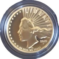 2019 W AMERICAN LIBERTY GOLD HIGH RELIEF 1 OZ $100 IN OGP