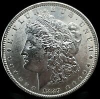 1889 P MORGAN DOLLAR BU. FULL OF LUSTER  90 SILVER $1 US COIN COLLECTIBLE 496