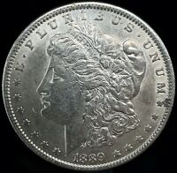 1889 P MORGAN DOLLAR BU. FULL OF LUSTER  90 SILVER $1 US COIN COLLECTIBLE 497