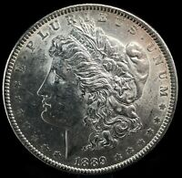 1889 P MORGAN DOLLAR BU. FULL OF LUSTER  90 SILVER $1 US COIN COLLECTIBLE 498