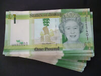 A STATES OF JERSEY ONE POUND NOTE UNCIRCULATED JERSEY 1 BANKNOTE MINT CONDITION
