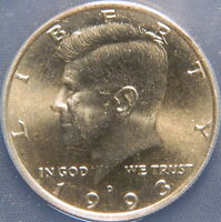 1993 D  KENNEDY HALF ANACS MINT STATE 65