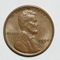 1944 D/D WHEAT CENT PENNY RPM-002 D OVER D REPUNCHED MINT MARK  B13