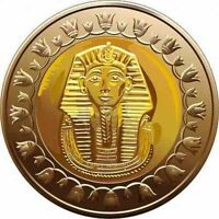 2008/2018 EGYPT  GYPTEN COINS UNCIRCULATED CONDITIONS KING TUT  1 POUND