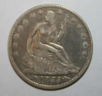 1855 VF SEATED SILVER HALF DOLLAR A151