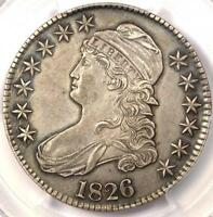 1826 CAPPED BUST HALF DOLLAR 50C O 112   PCGS AU DETAILS   R DATE COIN