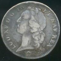FRANCE SILVER COIN ECU 1741 V TROYES MINT KM UNLISTED   2738PCS. MEGA