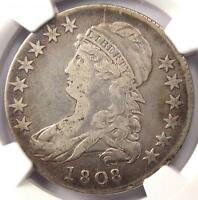 1808 CAPPED BUST HALF DOLLAR 50C O 102A   NGC VF25 PQ    CERTIFIED COIN