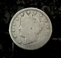 1883 LIBERTY V NICKEL NO CENTS TYPE GOOD CONDITION