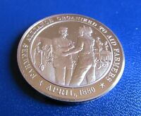 1880 FARMERS' ALLIANCE ORGANIZED TO AID FARMERS HISTORY OF US BRONZE MEDAL