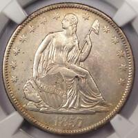 1857 O SEATED LIBERTY HALF DOLLAR 50C   CERTIFIED NGC AU DETAILS    DATE