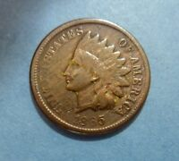 1865 INDIAN HEAD CENT - STILL LOTS OF DETAIL ON THIS OLD POST CIVIL WAR COIN