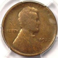 1922 NO D STRONG REVERSE LINCOLN WHEAT CENT 1C   PCGS F12