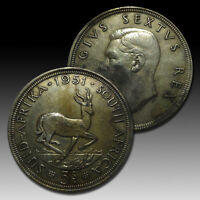 SOUTH AFRICA: 1951 5 SHILLINGS 300TH ANNIVERSARY   FOUNDING OF CAPETOWN 1616