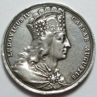 GERMANY   1766 LOUIS IV 1287 1347 SILVER MEDAL BY SCHEGA