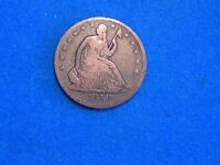 1859 PHILADELPHIA MINT SEATED HALF DOLLAR VG GOOD CONDITION