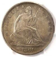 1861 S SEATED LIBERTY HALF DOLLAR 50C. CERTIFIED PCGS XF40    CIVIL WAR DATE