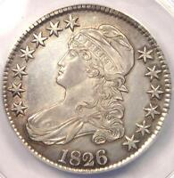 1826 CAPPED BUST HALF DOLLAR 50C O 116A   ANACS AU50 DETAILS    COIN