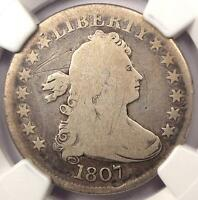 1807 DRAPED BUST QUARTER 25C   NGC VG DETAILS    EARLY CERTIFIED COIN
