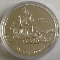 1774 1999 CANADIAN SILVER $1  225TH ANNIVERSARY VOYAGE OF JUAN PEREZ