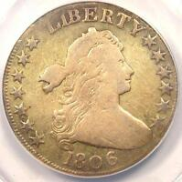 1806 DRAPED BUST HALF DOLLAR 50C - ANACS VG8 DETAILS -  CERTIFIED COIN