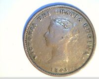 1843 NEW BRUNSWICK CANADA HALF PENNY TOKEN CIR HIGH GRADE COPPER CAN 517