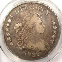 1799/8 DRAPED BUST SILVER DOLLAR $1   PCGS VF DETAILS    CERTIFIED COIN