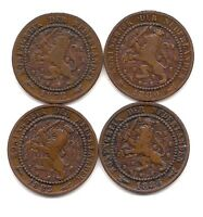 1878,1880,1883,1884 NETHERLANDS ONE CENT  STRONG DETAILS