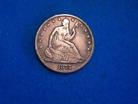 1877 PHILADELPHIA MINT SEATED HALF DOLLAR FINE CONDITION