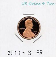 BU 2014 S PROOF LINCOLN SHIELD CENT PENNY