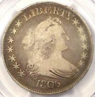 1806 DRAPED BUST HALF DOLLAR 50C  - PCGS F12 FINE -  CERTIFIED COIN