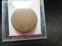 1865 2C TWO CENT PIECE. AVERAGE CIRCUALTED CONDITION. LARGE STORE SALE 0851