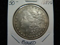 1887-S $1 MORGAN SILVER DOLLAR. AVERAGE CIRCUALTED COIN -LARGE STORE SALE 99157