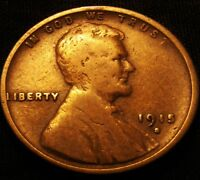 1913 S  LINCOLN CENT - WHEAT REVERSE 1C COPPER PENNY - LO/MID GRADE BARGAIN