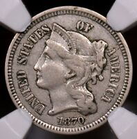 3C 1870 NICKEL TRIME RAW. SELLING OFF COLLECTION G2 3 54