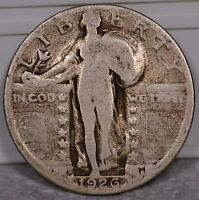 25C 1926 S SLQ STANDING LIBERTY RAW. SELLING OFF COLLECTION B10 106