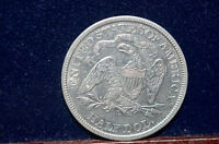 1869 S 50C   LIBERTY SEATED HALF DOLLAR     ALMOST UNCIRCULATED
