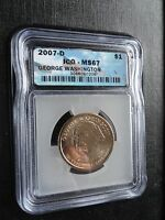 US MINT ICG MINT STATE 67 AND PR69DCAM 12 TOTAL PRESIDENTIAL COINS 2007
