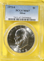 1972 S IKE DOLLAR PCGS MS67