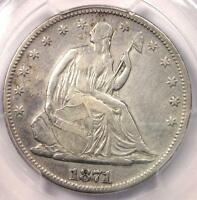 1871 CC SEATED LIBERTY HALF DOLLAR 50C   PCGS VF DETAILS VERY FINE    COIN